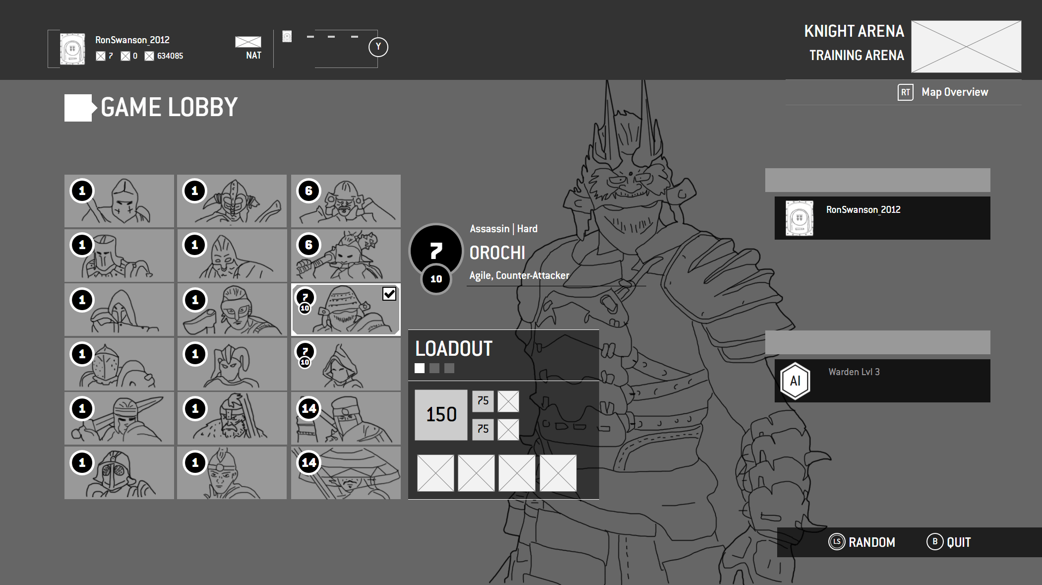 Game Lobby Hero Select